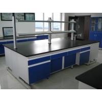 Wholesale Blue Stable Steel / Wood 16mm MDF Laboratory Wall Bench WithAluminum Alloy Handle from china suppliers