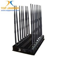 Buy cheap 16 Bands 38W High Power Jammer Blocker 3G 4G UHF VHF Lojack Wi-Fi 2.4G 3.6G 5.8G RF Signal from wholesalers