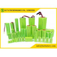 Buy cheap Rechargeable Nickel Metal Hydride Battery Cylindrical Single Cell Type 1.2V ni-mh battery NIMH battery pack in any size from wholesalers