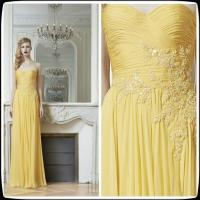 Yellow multi colored bridesmaid dresses zuhair murad gowns for Yellow wedding dresses for sale