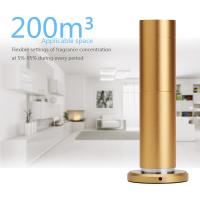 Buy cheap 12v  silent  gold Aluminum commercial Air Aroma Machine With Touch Button LCD Display from wholesalers