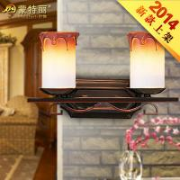 Wholesale Unique European Bathroom Over Mirror Lights , Wrought Iron Mirror Front Decoration Wall Lamp from china suppliers