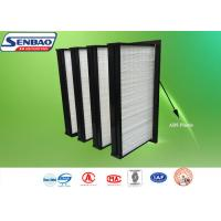 Buy cheap Air Handling Unit V Shape Fiberglass Air Filters Medium Efficiency In HVAC System from wholesalers