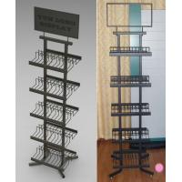 Wholesale Wire Tile Display Racks , Floor Display Shelf For PVC Flooring from china suppliers