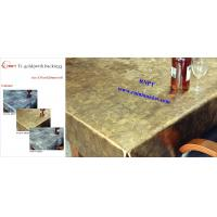Buy cheap Fancy PVC Table Cloth--RNPT Ti-Gold Table cloth with polyester backing  for Iran and Turkey ,Azerbaijan ,South Africa from wholesalers