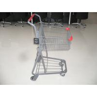 Wholesale Q195 Low carbon steel single basket Shopping cart with metal base in color powder finish from china suppliers