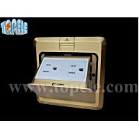 Wholesale Square Panel Copper / Round Aluminum Aloy POP-up Type Floor Socket GFCI Receptacles OEM from china suppliers