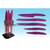 Wholesale kitchen non-stick coating knife set ,chef knive with block from china suppliers