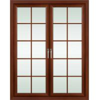 Wholesale 2.0mm profile thickness red sandalwood powder coated aluminum hinged doors for entry door from china suppliers