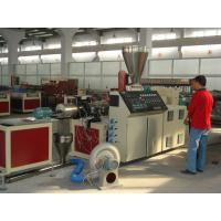 Wholesale High Efficiency Plastic Granules Making Machine , WPC Conical Twin Screw Extruder from china suppliers