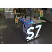 Wholesale China telecom and mobile terminal sales center display counter and Logos by brushed stainless steel from china suppliers