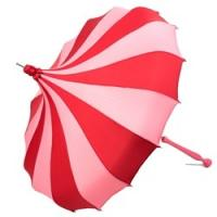 Wholesale UMBRELLA CUSTOM HANDMADE CORAL PINK & RED PINWHEEL PAGODA UMBRELLAS from china suppliers