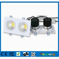 Wholesale 2x6W 30°/60° dimmable COB led downlight cool white waterproof bathroom lights from china suppliers