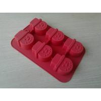 Wholesale Christmas Cold-resisting Red Silicone Baking Moulds , 6 holes Snow Man Cake Mold from china suppliers