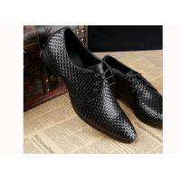Wholesale Mens Burgundy Dress Shoes Vintage Italian Goodyear Welted Full Grain Leather Shoes from china suppliers