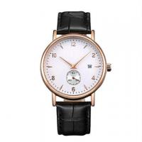 Wholesale Stainless Steel Leather Band Watches / Quartz Wrist Watch For Men , Eco - Friendly from china suppliers