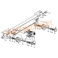 Wholesale Crane Traveling Mechanism HSB Series Crane End Carriage for Single / Double Girder from china suppliers