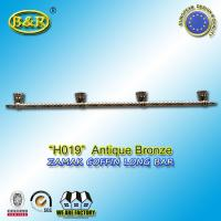 Wholesale Ref No zamak H019 zinc casket long bar  metal coffin hardware 1.55 meter long with 4 bases from china suppliers