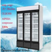 Wholesale Stainless Steel Upright Commercial Display Freezer -25°C With 3 Doors from china suppliers