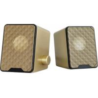 Wholesale Gold color USB 2.0 3.5mm PC Speakers Subwoofer for Desktop Laptop Notebook Tablet MOBILE from china suppliers