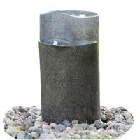 Quality Cylinder Shaped Cast Stone Garden Fountains / Large Outdoor Fountains  for sale