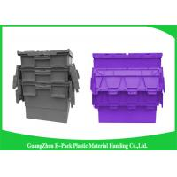 Wholesale Customzized Plastic Moving Boxes Attached Lid Containers For Warehouse from china suppliers