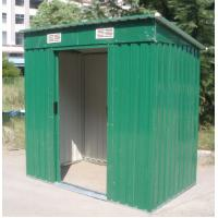 Wholesale Standard Green Outdoor Garden Metal Tool Shed With Pent / Apex Roof , Sliding Door from china suppliers