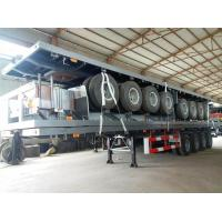 Wholesale 4 Axles 70 Ton 40ft 45ft Flatbed Container Delivery Semi Truck Trailer , Transportation Trailer from china suppliers