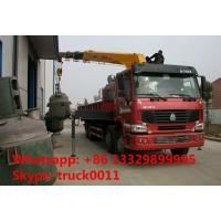 Wholesale Heavy duty SINO TRUK 8*4 HOWO 16tons Truck with Crane,factory sale best price Truck with XCMG Crane Truck with crane from china suppliers