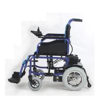 Quality 250W Motor Lightweight Folding Electric Wheelchair , Foldable Power Wheelchair for sale