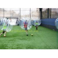 Quality CE Pump 1.0mm PVC Knocker Inflatable Bumper Ball Transparent For Soccer Game for sale