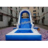 Wholesale Blue Family Double Stitching Inflatable Water Slide For Kids from china suppliers