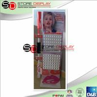 Wholesale Modern Corrugated Cardboard Floor Display , Lip Gloss Multideck Point Of Purchase Display from china suppliers