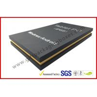 Wholesale Matt Black special paper gift box for tablet with silver hot stamp logo EVA tray from china suppliers