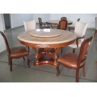 Wholesale Round Marble Luxury Dining Room Furniture Walnut Dining Table And Chairs from china suppliers