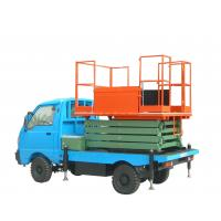 Quality 11 meters telescopic legs truck - mounted scissor lift with 300Kg loading capacity for sale