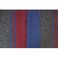Wholesale Grey Blue Red Stripe Jacquard Wool Blend Coat Fabric Soft Accessories from china suppliers