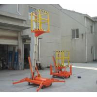 Wholesale Single mast manual hydraulic lift platform 100kg , 150kg for supermarket from china suppliers