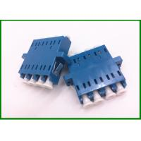 Buy cheap SM Quad size Blue optical fiber adapter for optical networking wiring from wholesalers