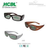 Wholesale Digital White / Brown / Yellow Real D 3D Glasses Big Frame Cinema Using from china suppliers