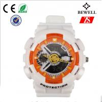 Wholesale Japanese Movement Digital Silicone Watch , White Silicone Wristwatch from china suppliers