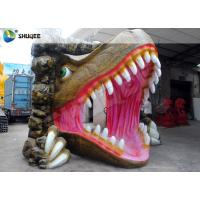 Wholesale Vivid Dinosaur 5D Movie Theater With Red Luxury Chairs , Genuine Leather Fiberglass from china suppliers