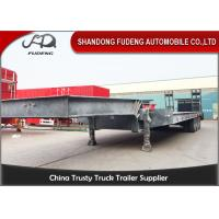 Wholesale 4 axles low bed semi trailer low loader 80 ton trucks and trailers from china suppliers