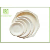 Wholesale Round White Disposable Wooden Plates bulk For Fruit 5'' 6'' 7'' 8'' Size from china suppliers