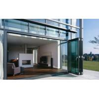 Quality Weatherproofing Sliding Folding Glass Door For Patio 4 panels design for sale