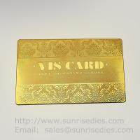 Gold Tone Etched Metal Membership Cards factory China