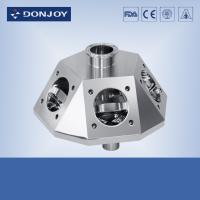 Wholesale Inox sanitary multiport valve round steel body for beverage process and fluid control from china suppliers