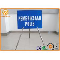 "Wholesale Portable Foldable Traffic Warning Signs with Tripod Stand Galvanized Tube Diameter 1"" from china suppliers"