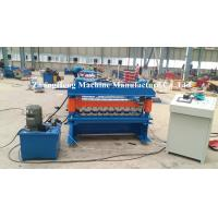 Wholesale Zinc / Aluminum Forming Machine 15 m / min Speed Roof Sheet Bending Machine from china suppliers