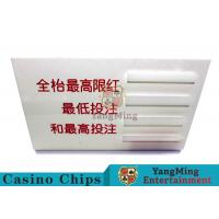 Wholesale Baccarat Dedicated Casino Game Accessories Poker Game Table Bet Limit Sign from china suppliers